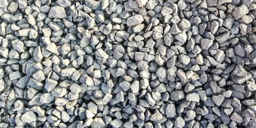 Fotografia texture of gravel stones on ground