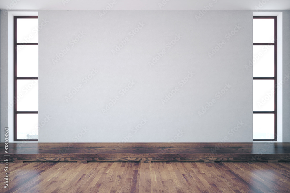 Room with empty concrete wall