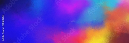 colorful vibrant grunge horizontal texture background with indian red, royal blue and steel blue color