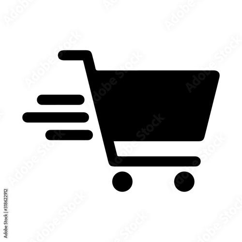 Tablou Canvas Shopping cart icon (Vector)