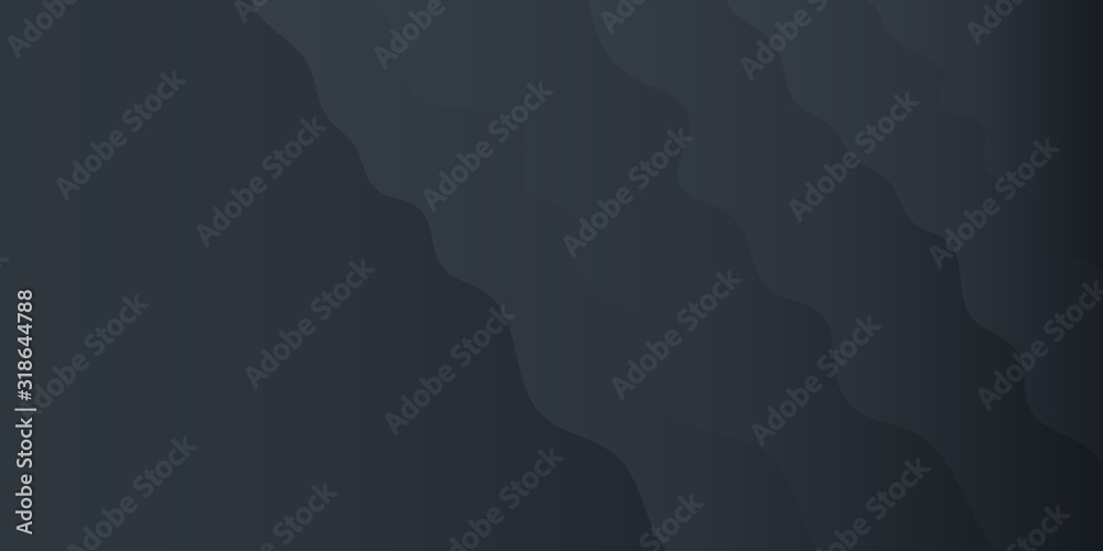 Abstract background black gradient for presentation design. Modern vector Illustration with wave effect. Suit for business, corporate, institution, conference, party, festive, seminar, and talks. <span>plik: #318644788 | autor: Salman</span>