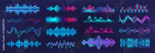 Fotografie, Obraz Sound waves equalizer