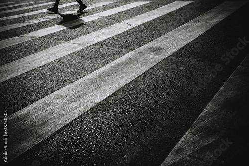Carta da parati Low Section Of Man Walking On Road