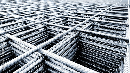 Fotografie, Obraz Full Frame Shot Of Metal Rods Stacked In Industry