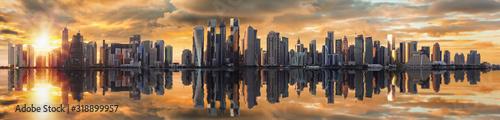 Αφίσα PANORAMIC VIEW OF BUILDINGS AGAINST SKY DURING SUNSET