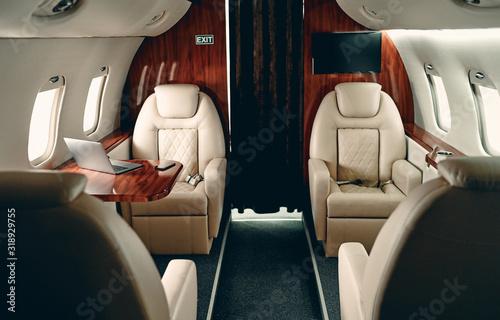 Carta da parati Cabin of private jet