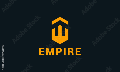 Fotografiet Modern minimal abstract Empire logo