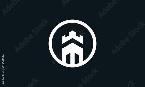 Slika na platnu Modern vintage Round Empire logo
