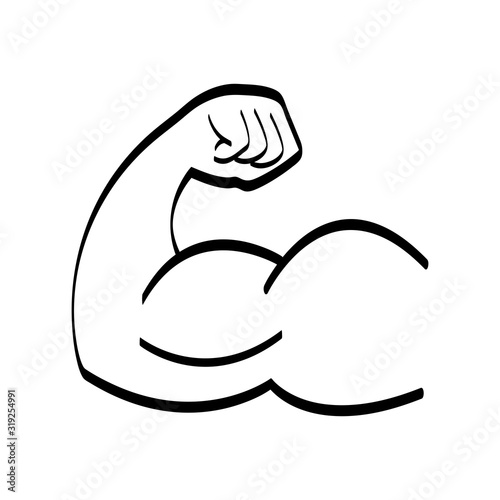 Valokuva Arm with big muscles like bodybuilders have black and white