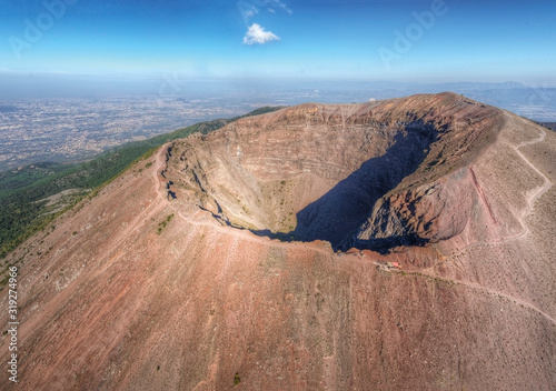 Vesuvius volcano crater Fototapete