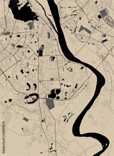 Fototapeta map of the city of Hanoi, Vietnam