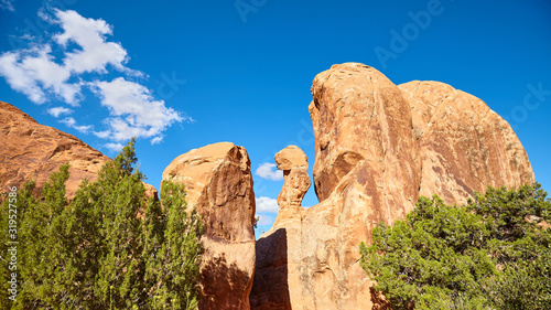 Fotografia Rock formations in Arches National Park, Utah, USA.