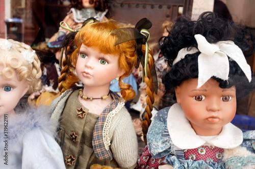 Canvas Print Close-Up Of Dolls