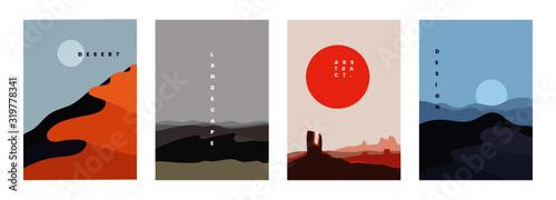 Canvas Print Landscape background, vector illustration