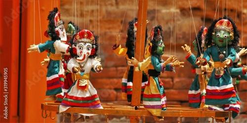 Obraz na plátně Close-Up Of Puppets
