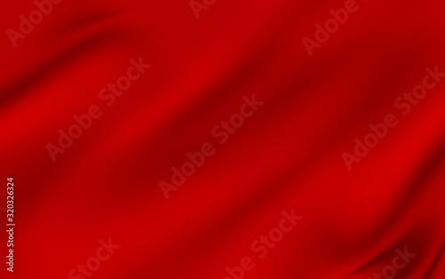 Fotografie, Tablou Background with 3D illustration luxury red silk velvet curtains.