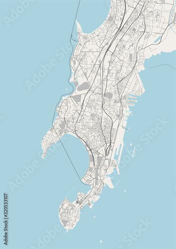 Obraz na plátně map of the city of Mumbai, Indian state of Maharashtra