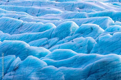 Stampa su Tela Svinafellsjokul glacier detail