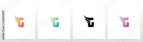 Fotografija Small Wing On Letter Logo Design G