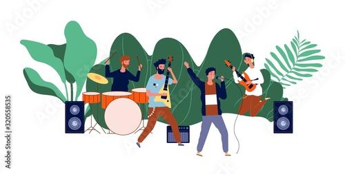 Obraz na plátně Male team concert