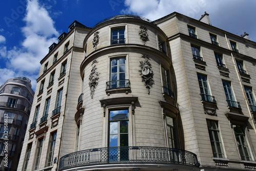 Billede på lærred Paris; France - april 2 2017 : boulevard des Capucines