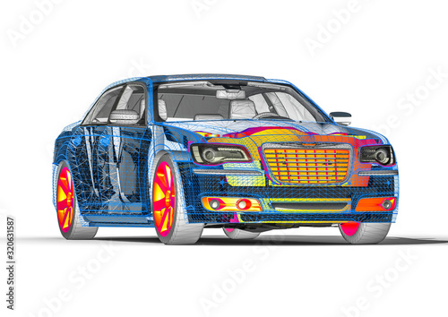 X-ray of a car