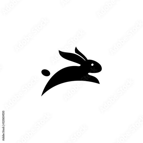 Canvas Print Rabbit vector template, black rabbit vector stock image