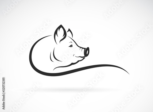 Photo Vector of a pig head design on white background