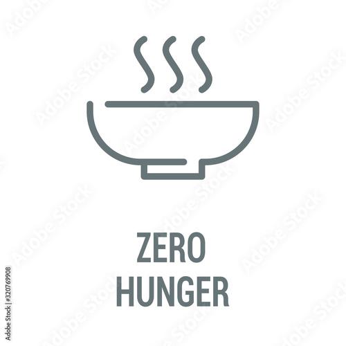 Photo Zero hunger black icon