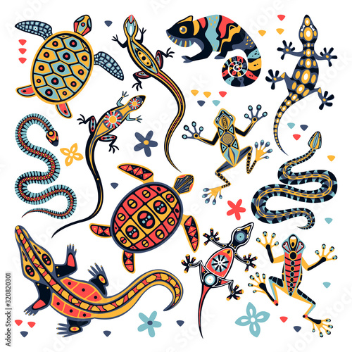 Carta da parati Reptiles vector illustration