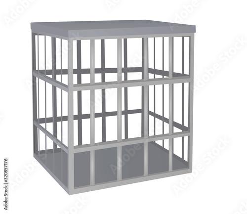 Fotografija Cage metal bars. vector illustration