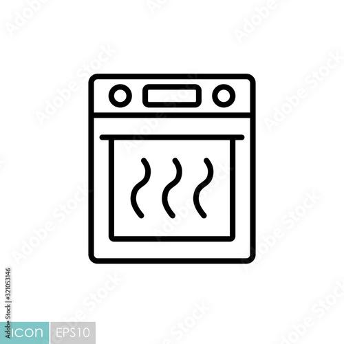 Fotografie, Tablou Electric oven vector kitchen icon