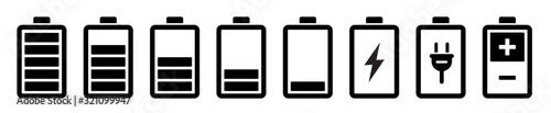 Fotografía Battery icons set