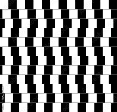 Fototapeta premium Cafe ściany geometryczny wzór złudzenie optyczne.