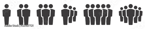 People icon. Team icons set. Group of people. Vector illustration