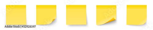 Fotografia Realystic set stick note isolated on white background