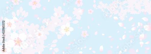 ふわふわ幻想的な桜と春の空