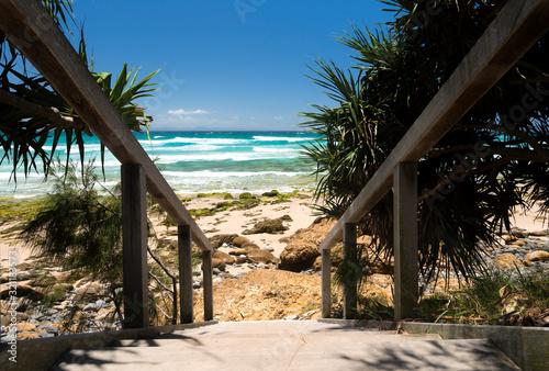Fototapeta Tropical beach, Byron Bay Australia