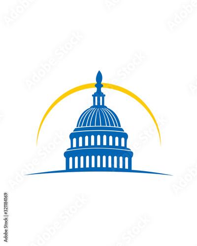 Capitol building Logo Fototapet