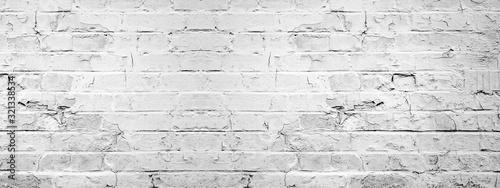Fotografija White gray light damaged rustic brick wall brickwork stonework masonry texture b