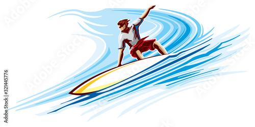 Obraz na płótnie Big wave surfing