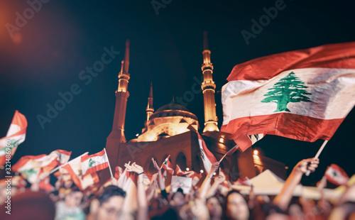 Fototapeta premium Rewolucja w Libanie