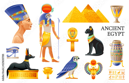 Fototapeta Ancient Egypt icon set