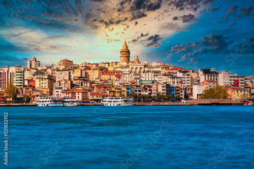 Wallpaper Mural Galata Tower in istanbul City of Turkey