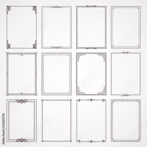 Wallpaper Mural labels and frames