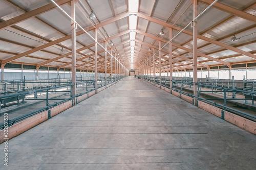 Fotografía Large hangar. Empty spacious large room, hangar.