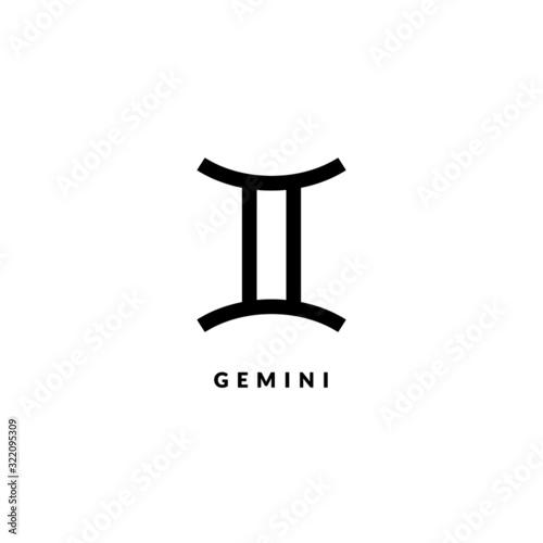 Fotografie, Obraz Zodiac gemini line sign