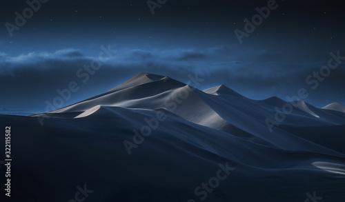 Obraz na płótnie Dune 7 Namibia at night