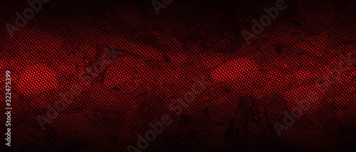 red and black carbon fibre background and texture.