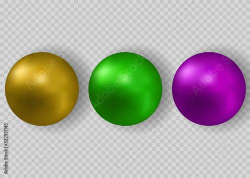 Canvas Print Green beads vector